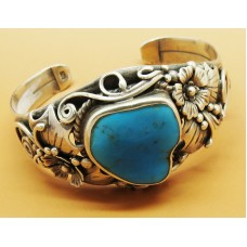 1960's Silver Turquoise cuff