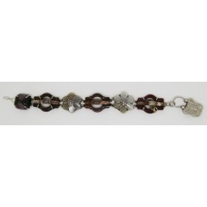 1920's Scottish Agete bracelet set on silver