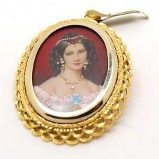 Italian hand painted pendant
