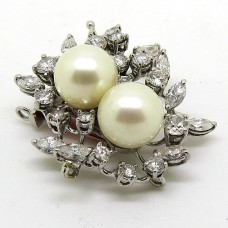 Pearl and Diamond clasp