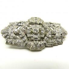 1920's Platinum brooch.