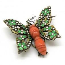 1900's Butterfly brooch
