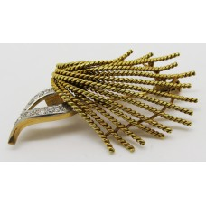 18ct diamond 1960's brooch