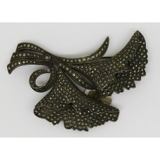1920's silver marcasite French brooch