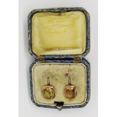c.1880's 9ct gold Topaz earings