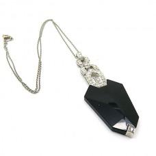 Onyx and Diamond necklace.