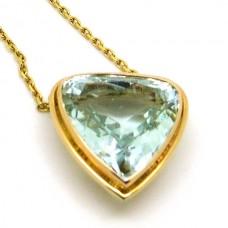 1940's Aquamarine Necklace.