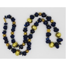 1960's Lapis Lazuli and antiquenecklace 18ct gold beads