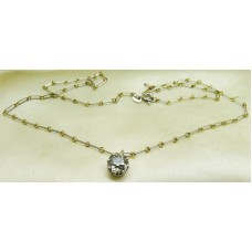 1900 18ct platinum chain and single diamond necklace (1.5ct of old cut diamond)