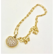 Heart Necklace 18ct Gold With Diamonds