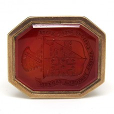 19th Century seal with Carved Agate.