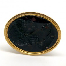 19th Century seal with carved Bloodstone.