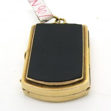 1880's Gold and Onyx locket.