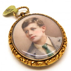Hand painted victorian pendant