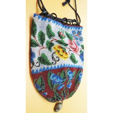 1900 Multi coloured bead hand made purse