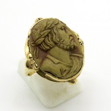 Carved Lava ring.