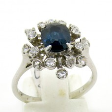 1950's Sapphire and Diamond ring.