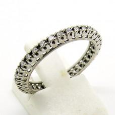 18ct Eternity ring with Diamonds.