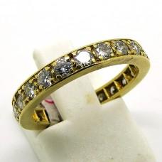 Full Gold and Diamond eternity ring.