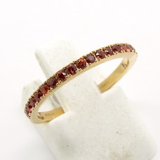 18ct pink Sapphire ring.