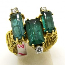 1970's Tourmaline and Diamond ring.