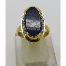 1960's Lapiz and diamond ring