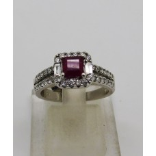 1980's 18ct ruby and diamond ring