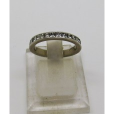1920's platinum square diamond eternity ring.  Size 11 51