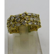 1970's hand made 18ct diamond eternity ring containing 3ct of baquette round and marquese shaped diamond size 15 55