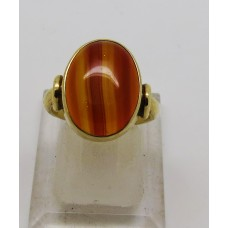 1900 Amber set on 18ct gold ring