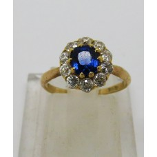 1900 Sapphire and Diamond ring set on 18ct gold