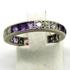 Platinum, Amethyst and Diamond ring