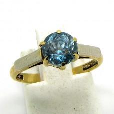 Platinum and Zircon ring