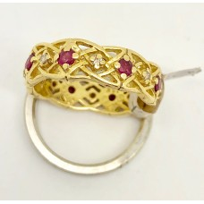 1980s Givenchy Ruby And Diamond Ring