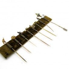 Gold hat pins