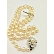 Vintage cultured pearl necklace 1940s