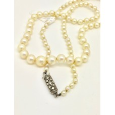 Vintage cultured pearl necklace 1930s